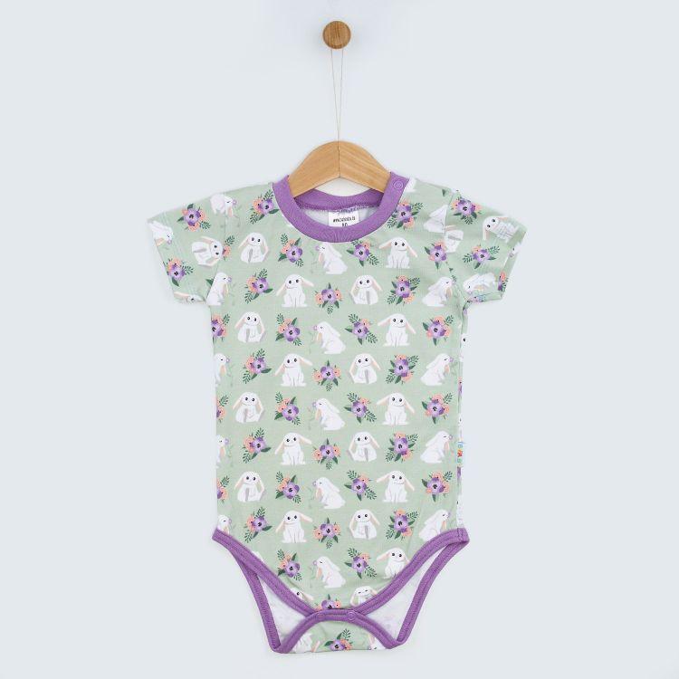 Baby-Kurzarmbody - FloralBunny