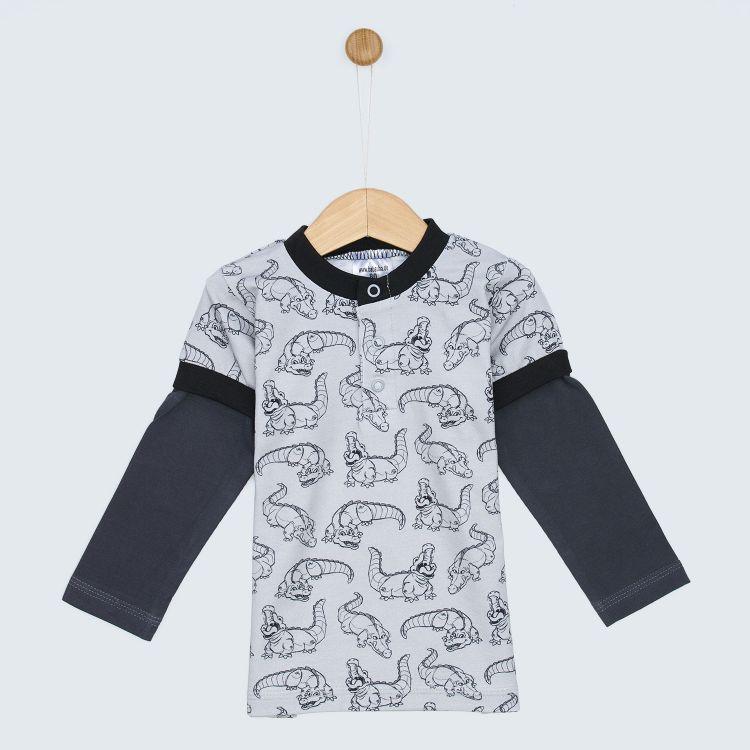 Kids-Langarm-T-Shirt - CrocoCrew