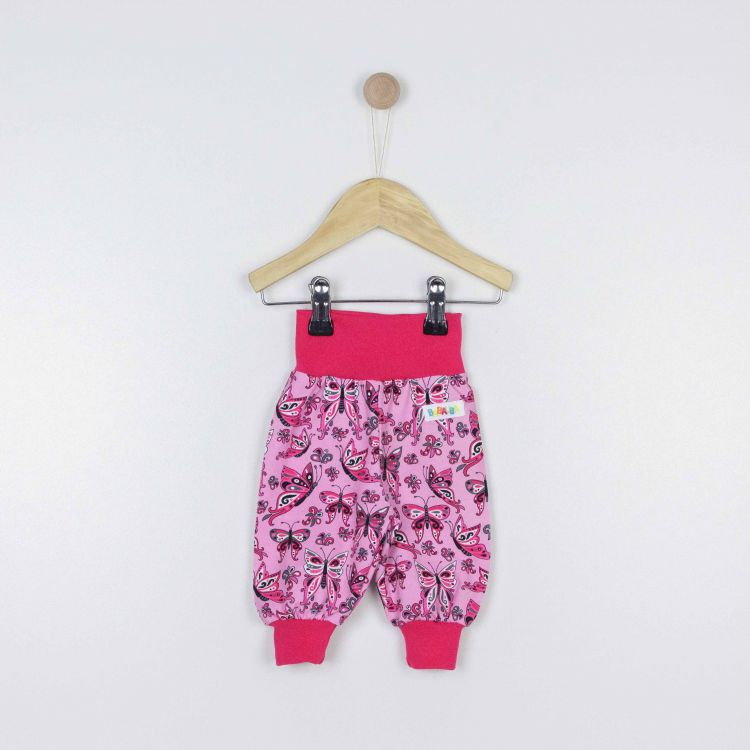 Frühchen-Widepants PrettyButterflies-PinkAndBlack
