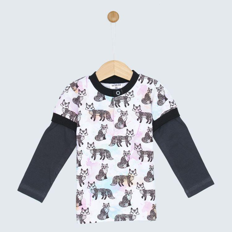 Langarm-T-Shirt ColorfulFoxes