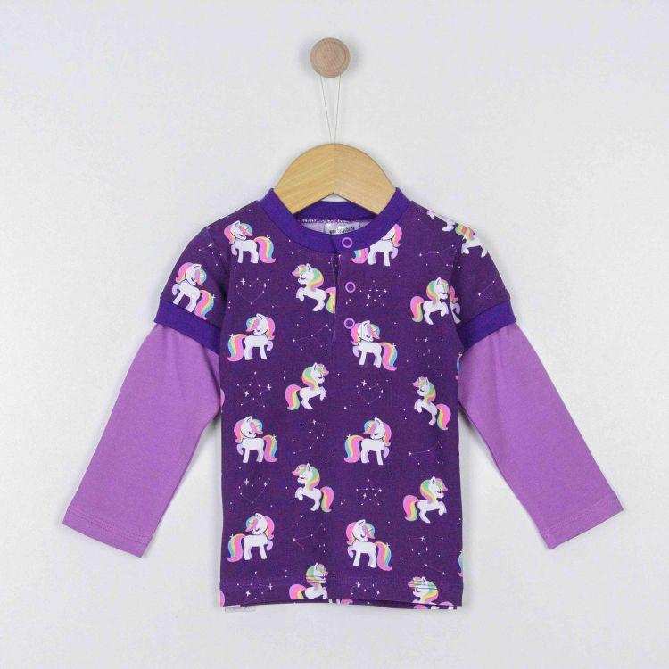 Langarm-T-Shirt GalaxyUnicorns