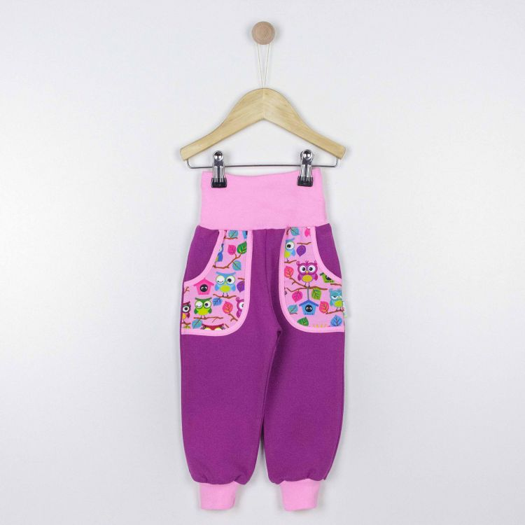 Kids-CoolPocketPants - BabaubaHoots-Pink