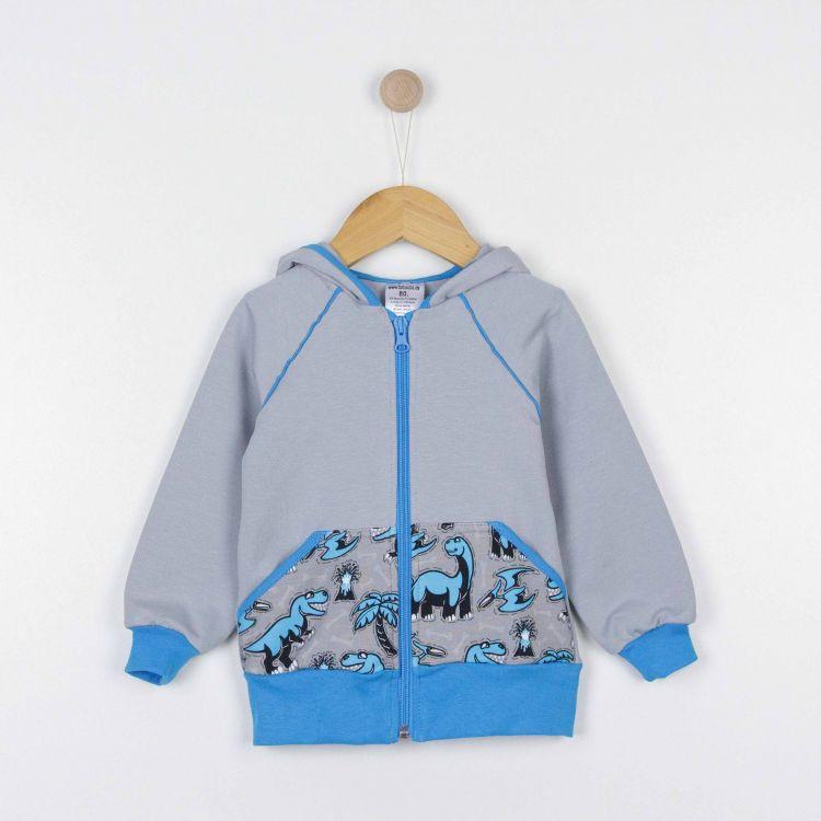 Kids-Raglan-Hoodie - Dinos-Bluegrey