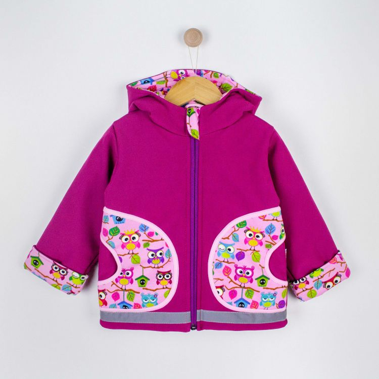 Kids-Winter-Softshelljacke - BabaubaHoots-Pink
