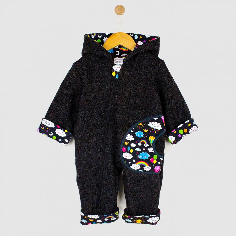 Baby-Wollwalk-Overall - RainbowsAndClouds-Black
