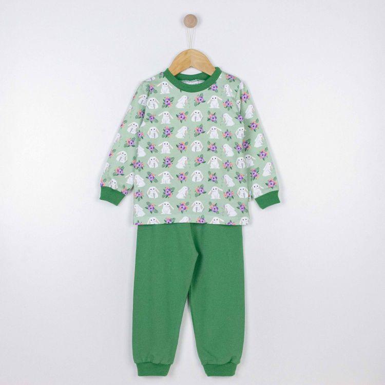 Pyjama-Set FloralBunny-GrasgrünEdition