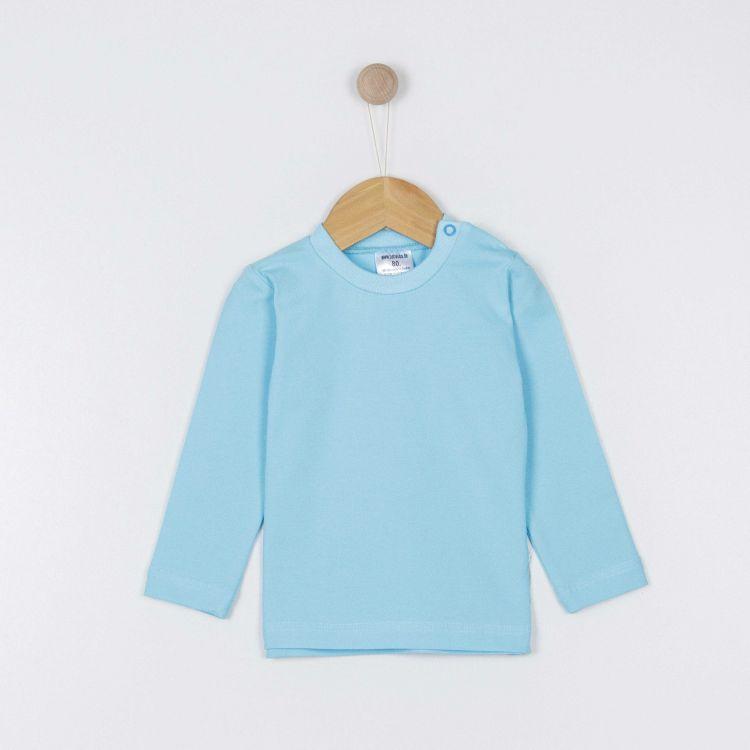 Baby-Uni-Langarmshirt - Babyblau