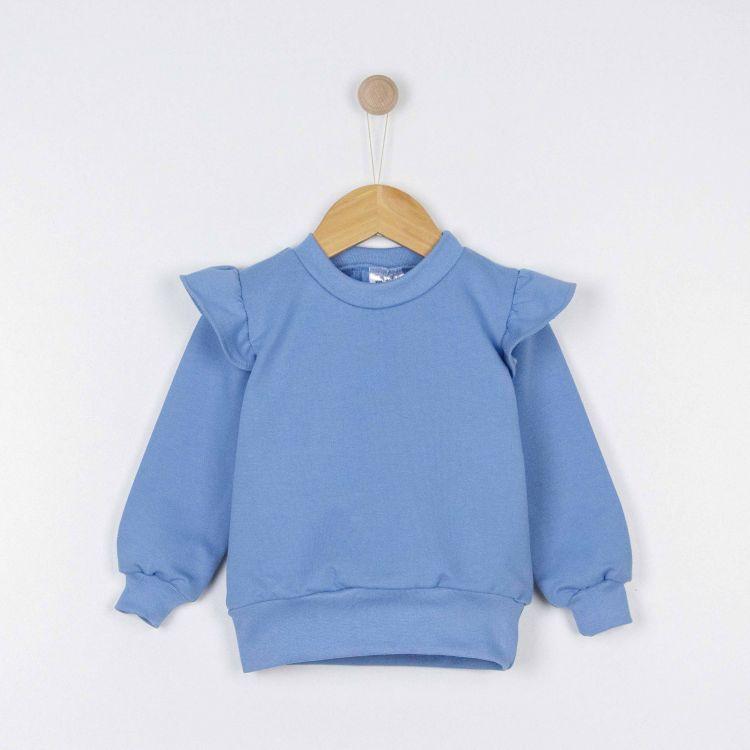 Uni-Volantsweater Rauchblau