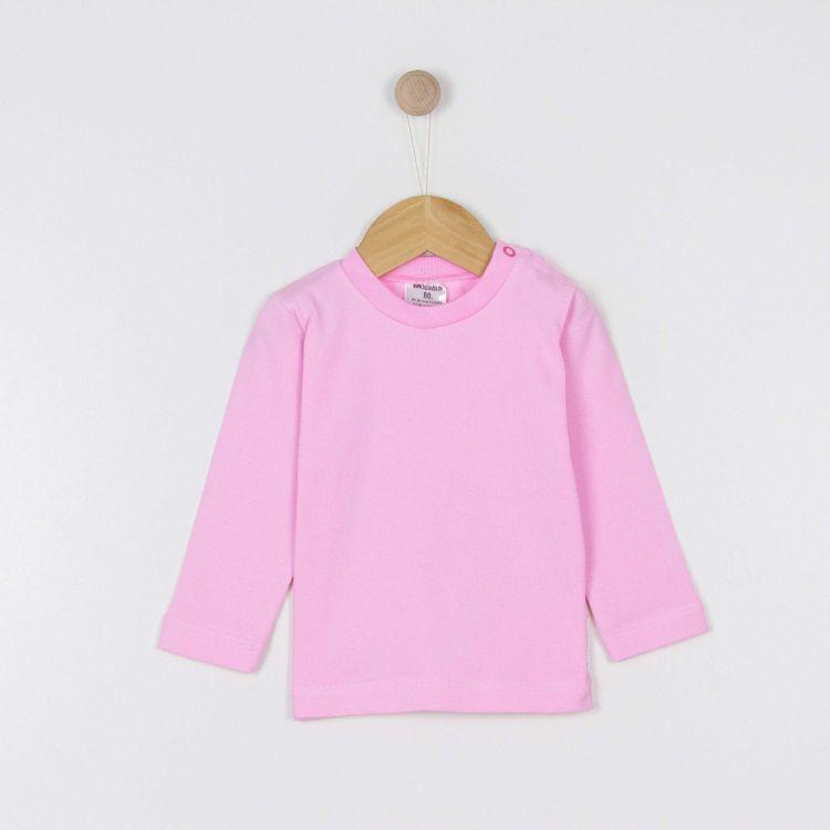 Baby-Uni-Langarmshirt - Babyrosa