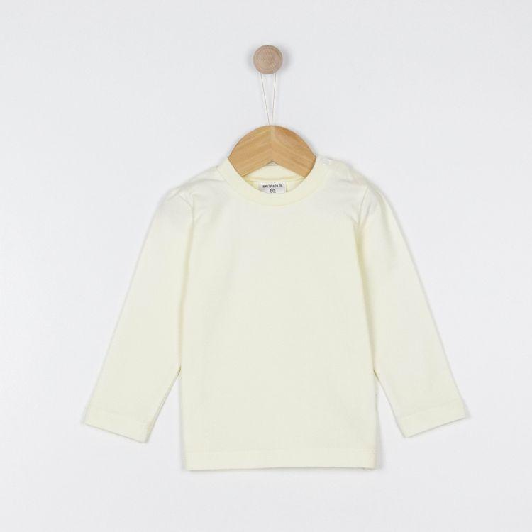 Baby-Uni-Langarmshirt - Creme