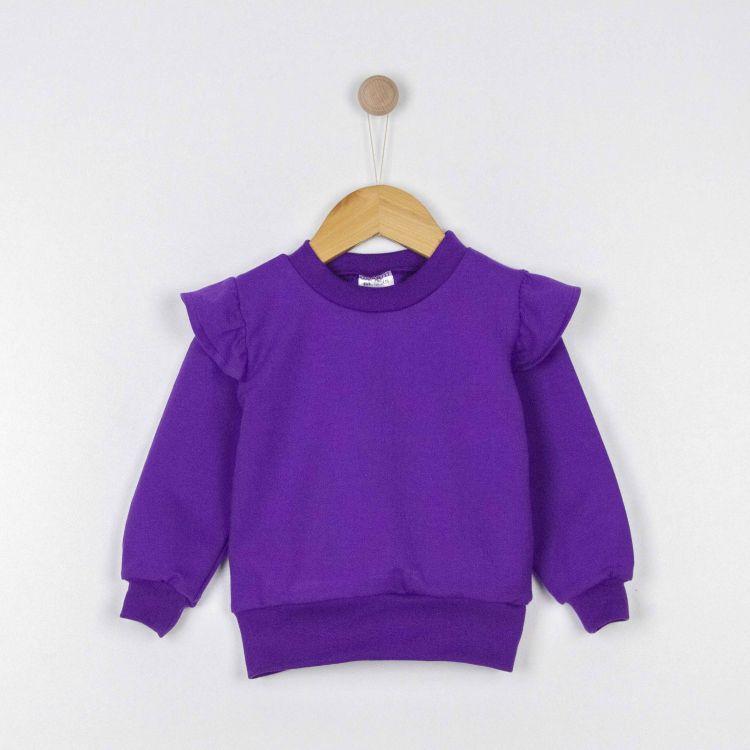 Uni-Volantsweater Lila