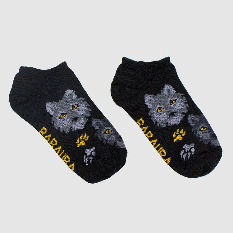 Sneaker-SockiSocks - BlackWolf-CurrygelbEdition