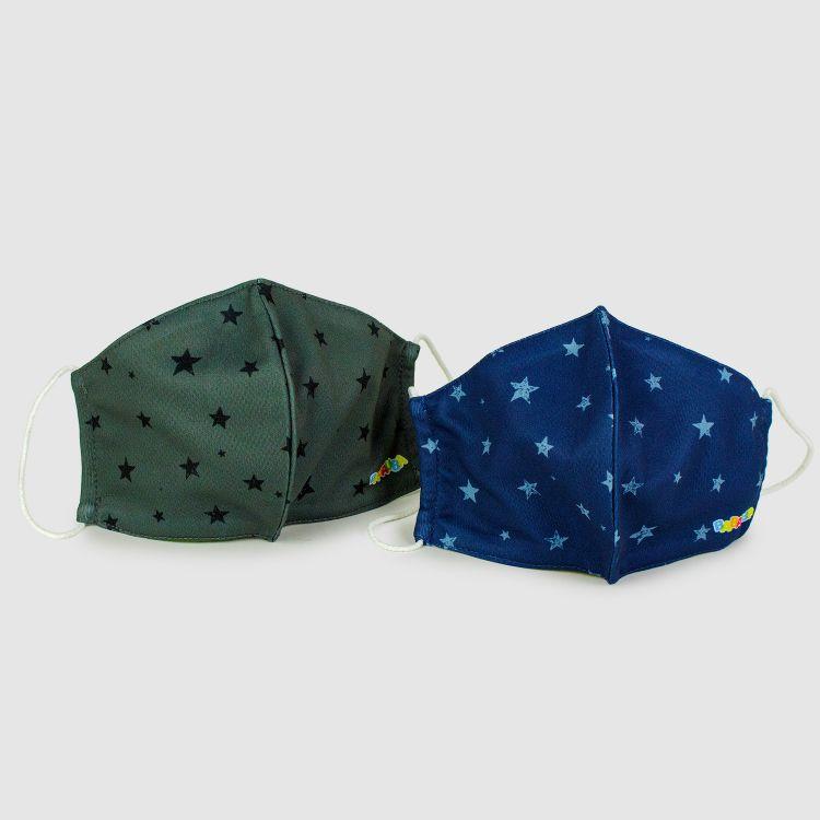 2er Set Masken für Erwachsene - NightSky-Blue/Grey