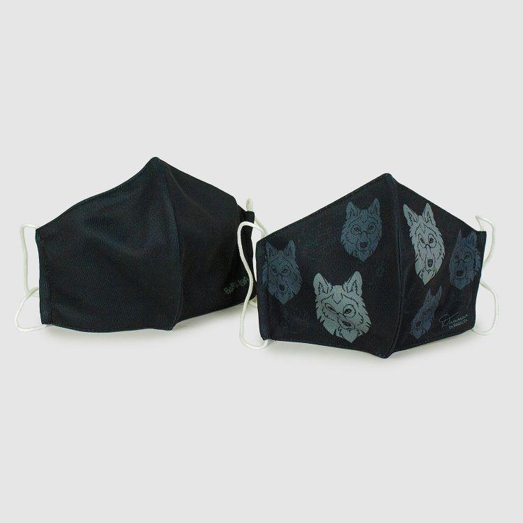 2er Set Masken für Erwachsene - Schwarz/BlackWolf
