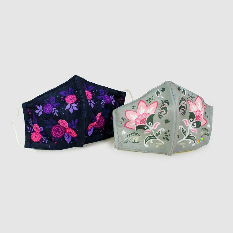 2er Set Masken für Erwachsene - LovelyRoses/PaisleyFlowers
