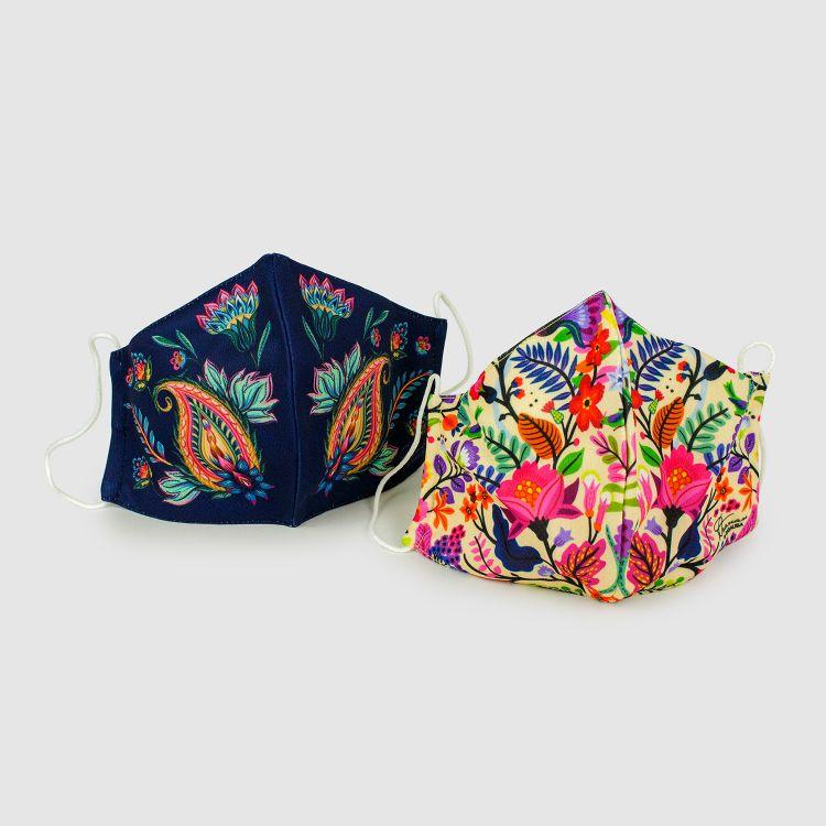2er Set Masken für Erwachsene - RoyalFlowers/ColorfulSpring