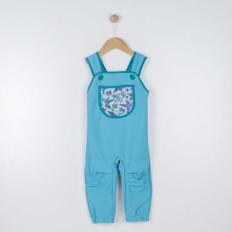 Baby-Softshell-Latzhose - Hummingbirds-Blue