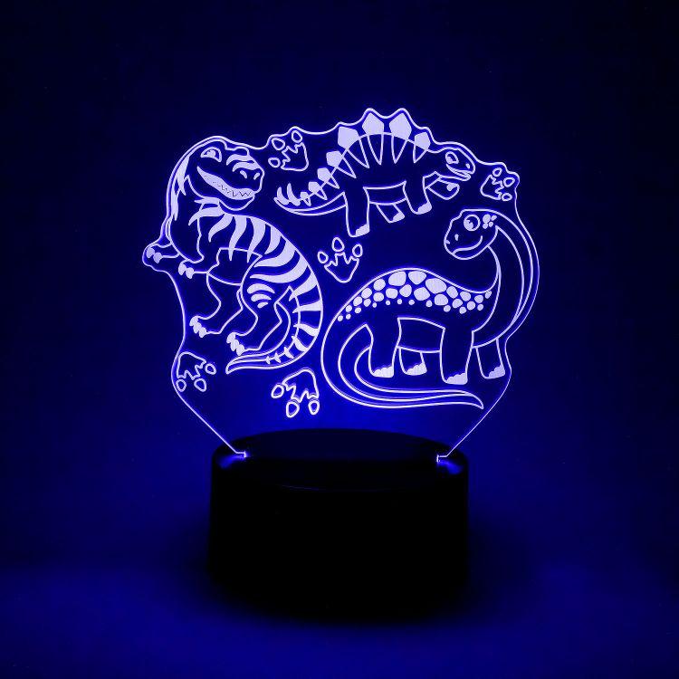 LED-Lampe BabaubaBigDinos-Brown