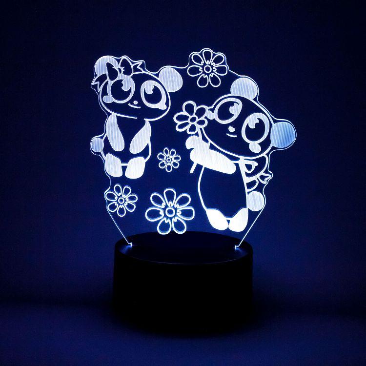 LED-Lampe - GirlyPanda-Grey
