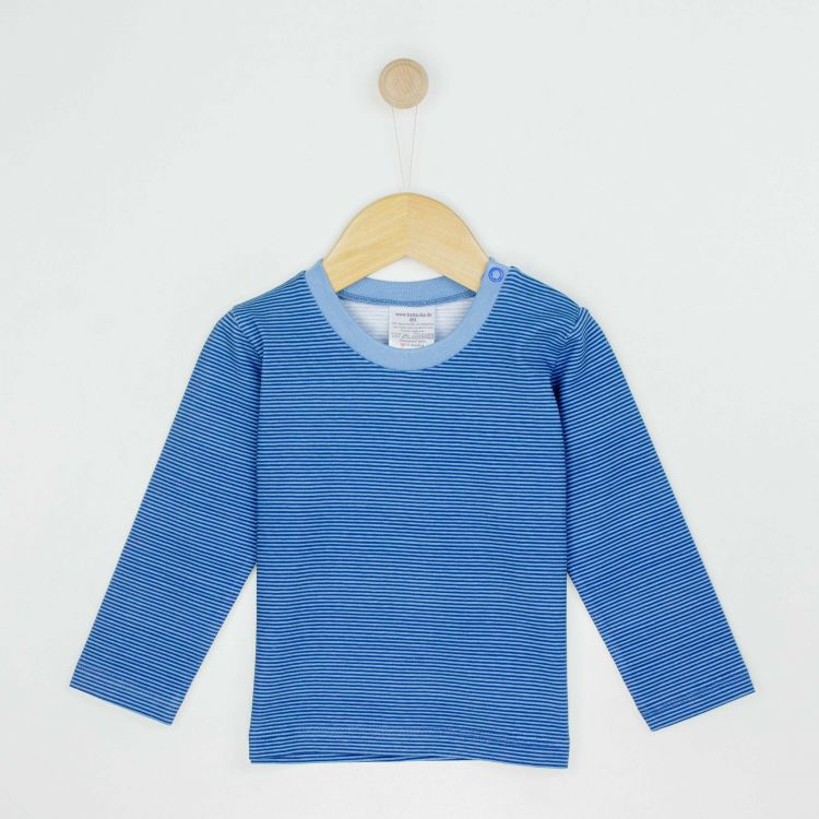 Kids-Langarmshirt - BlueStripes