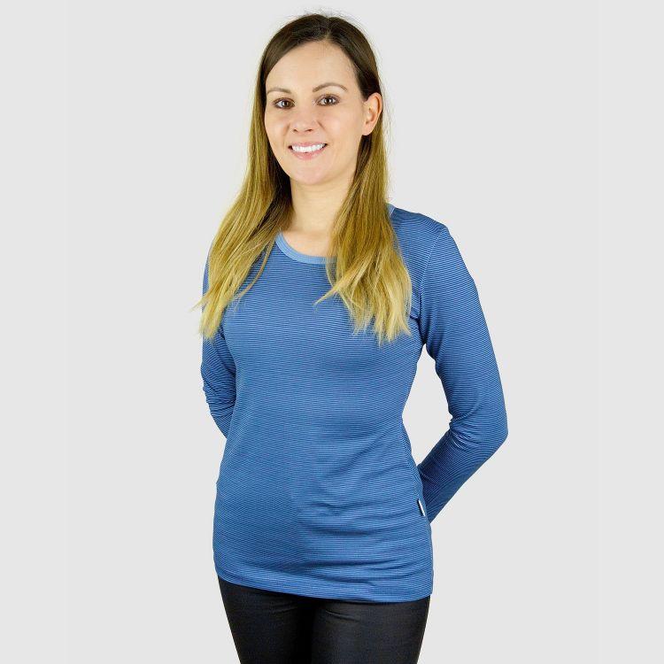 Woman-Langarmshirt BlueStripes