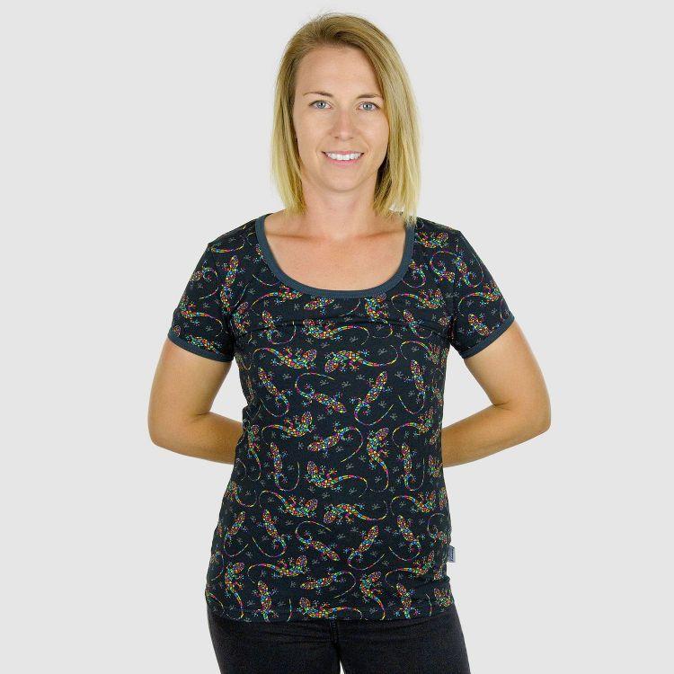 Woman-Shirt DiamantSalamander-Black