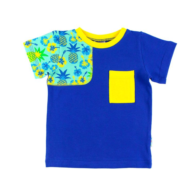AwesomeShirt - TropicalPineapple-Blue