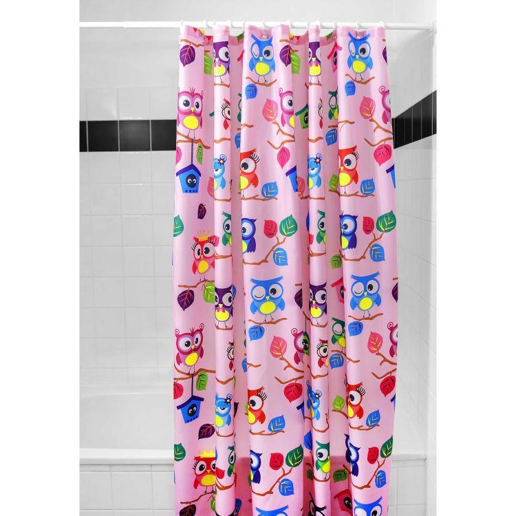 Duschvorhang BabaubaHoots-Pink