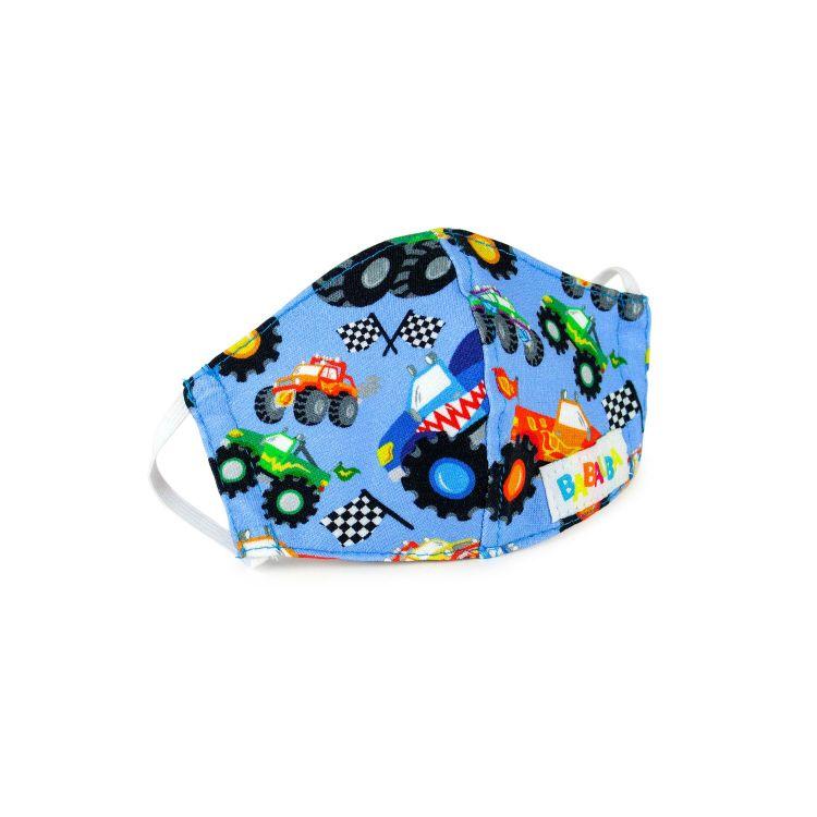 Mund- und Nasenmaske für Kinder mit Gummi - BabaubaMonstertrucks