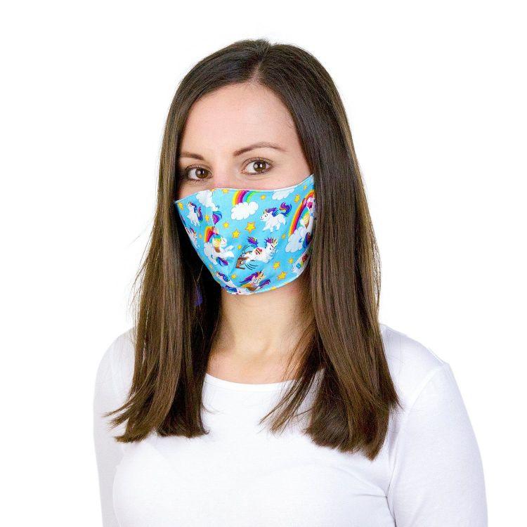 Mund- und Nasenmaske für Erwachsene mit Band - AngryUnicorns