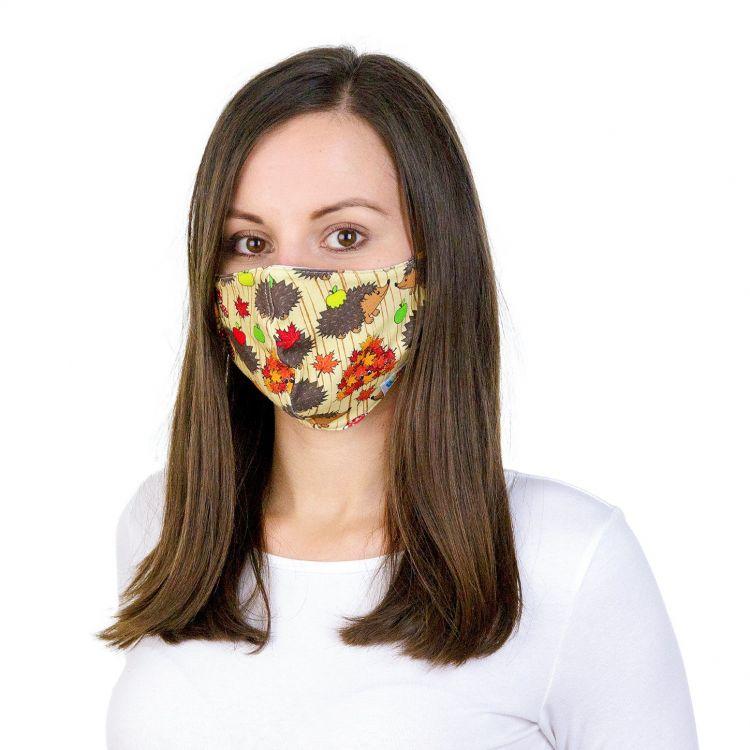 Mund- und Nasenmaske für Erwachsene mit Band - BabaubaHedgehogs