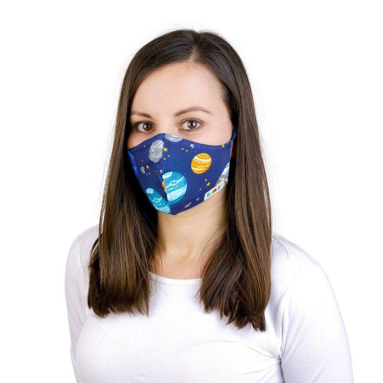 Mund- und Nasenmaske für Erwachsene mit Band - BabaubaPlanets