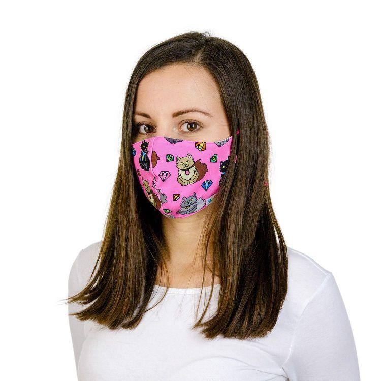 Mund- und Nasenmaske für Erwachsene mit Band - DiamondCats