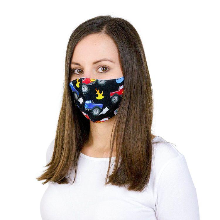 Mund- und Nasenmaske für Erwachsene mit Band - FireTrucks