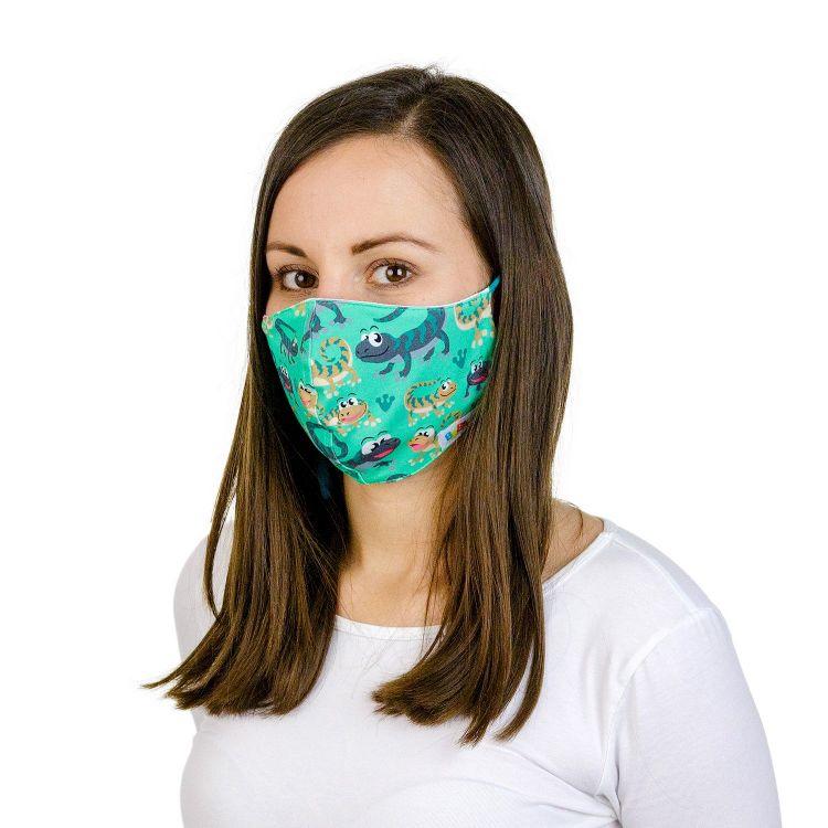 Mund- und Nasenmaske für Erwachsene mit Band - GreenLizard