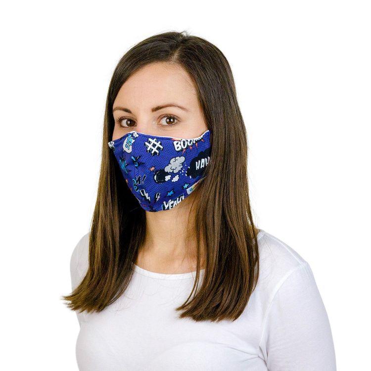 Mund- und Nasenmaske für Erwachsene mit Band Kaboom