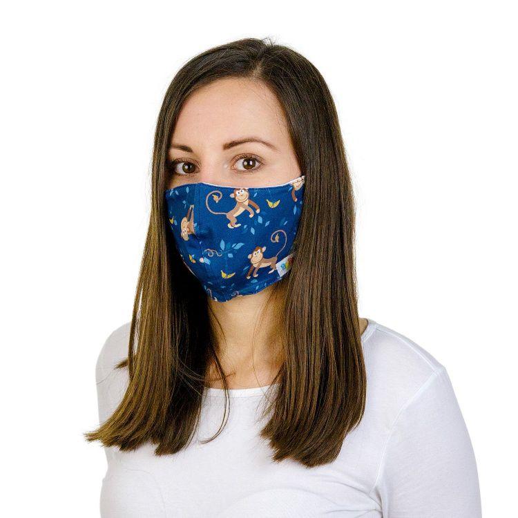 Mund- und Nasenmaske für Erwachsene mit Band - MonkeyBusiness
