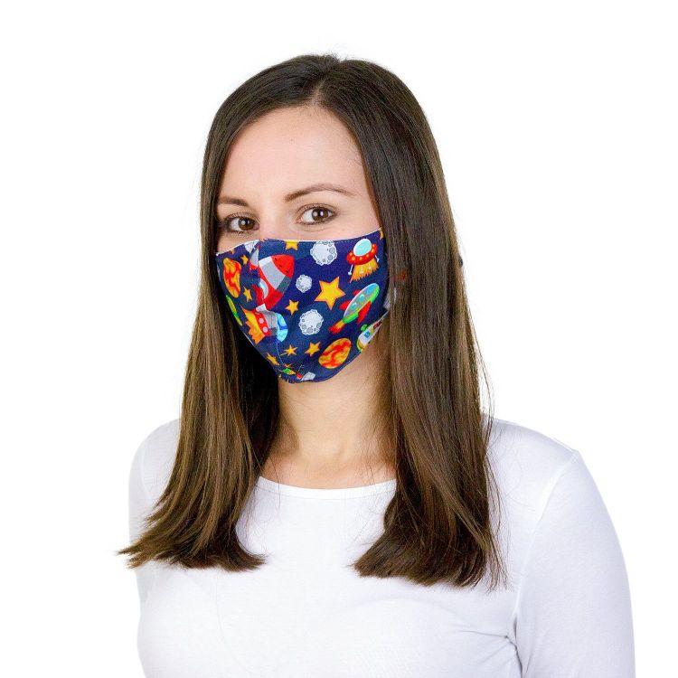 Mund- und Nasenmaske für Erwachsene mit Band - SpaceWorld