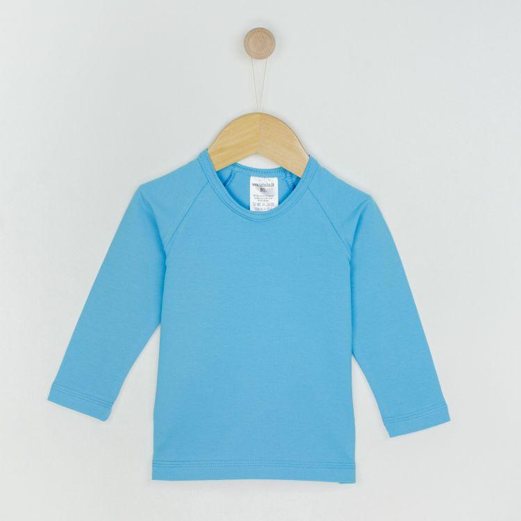 Baby-Uni-Langarm-Raglanshirt - Azurblau