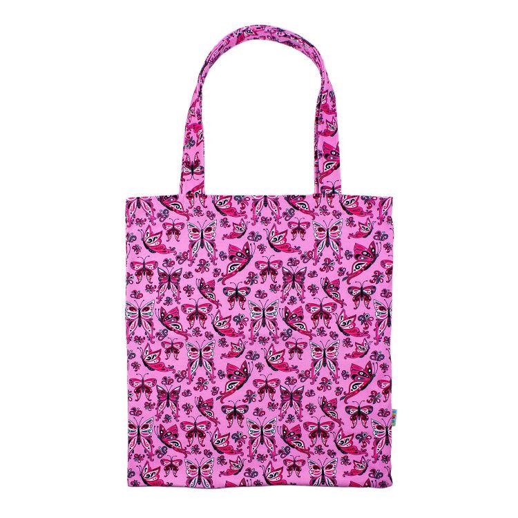 Shopper PrettyButterflies-PinkAndBlack