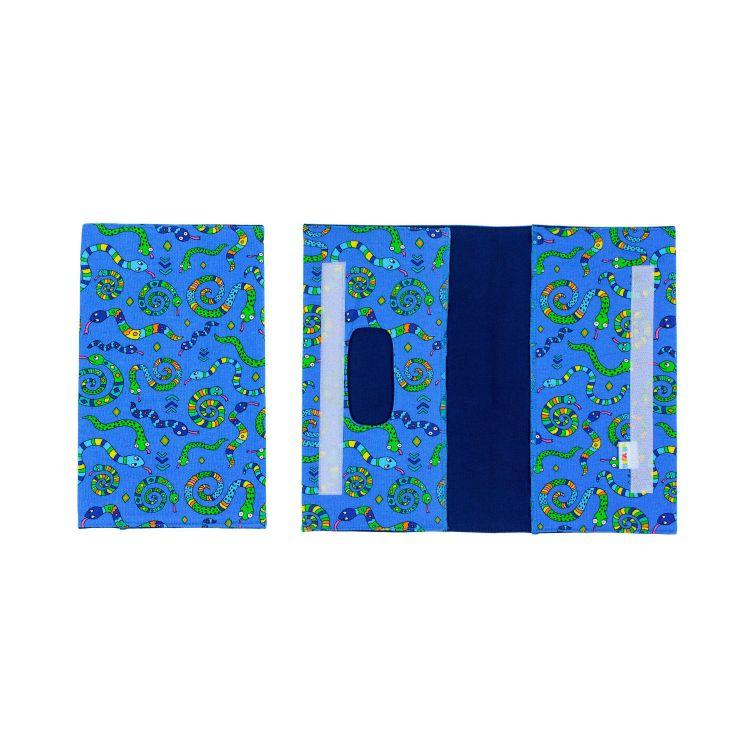 Windeltasche OrnamentSnakes-Blue
