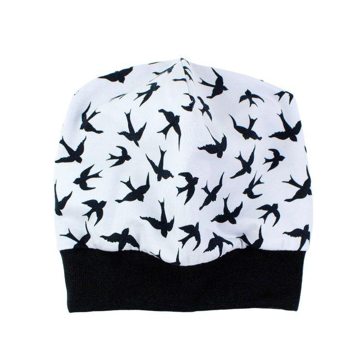 Beanie LovelySwallows-White