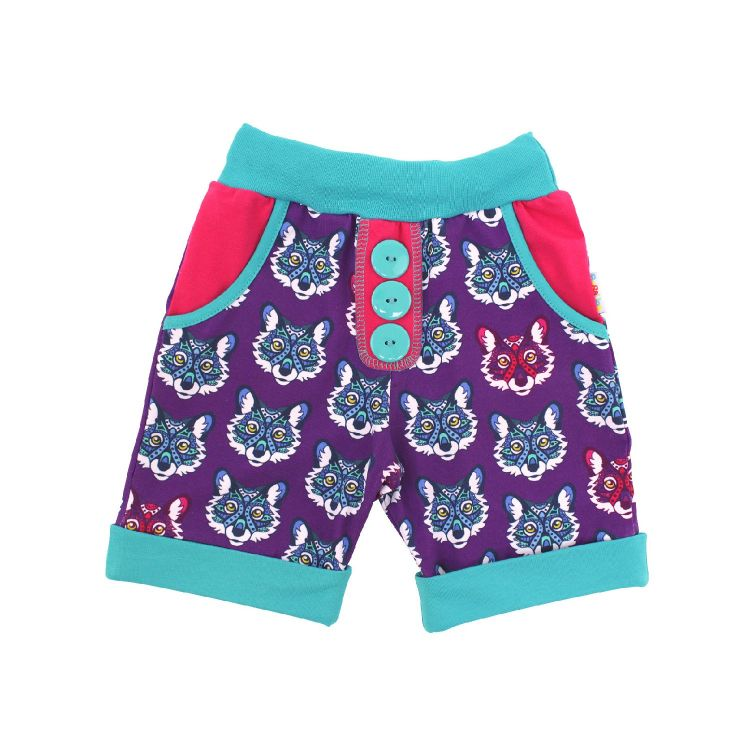 Baby-CoolPocketShorts - MagicalFoxes-Blue