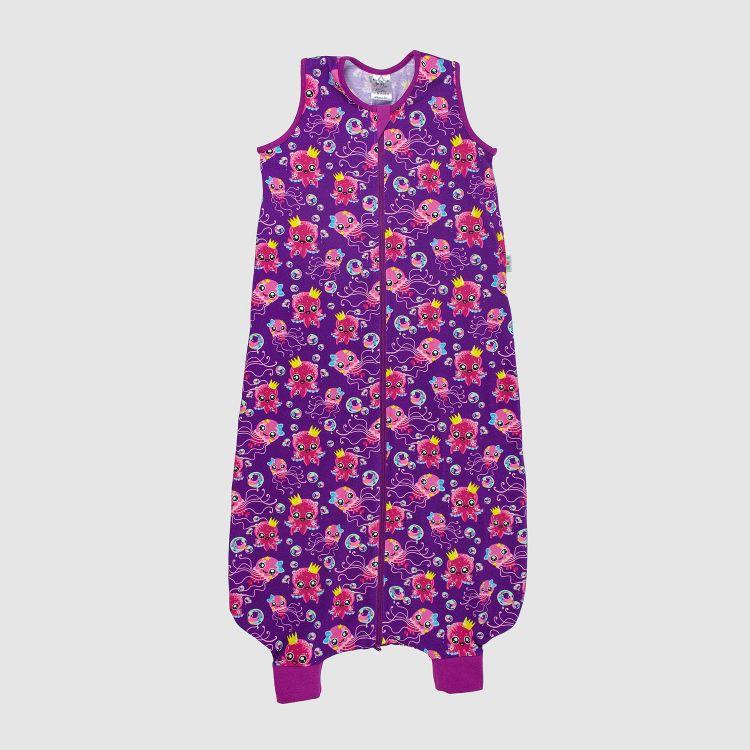 Füßchenschlafsack einlagig SweetOctopus-Purple