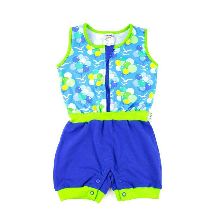 Baby-Jumpsuit - BalloonsInTheSky-Blue