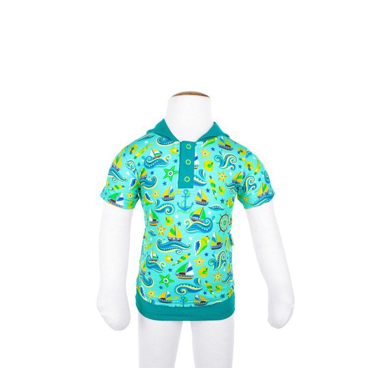 Kurzarm-LittleHeroShirt WonderfulSealife-Blue