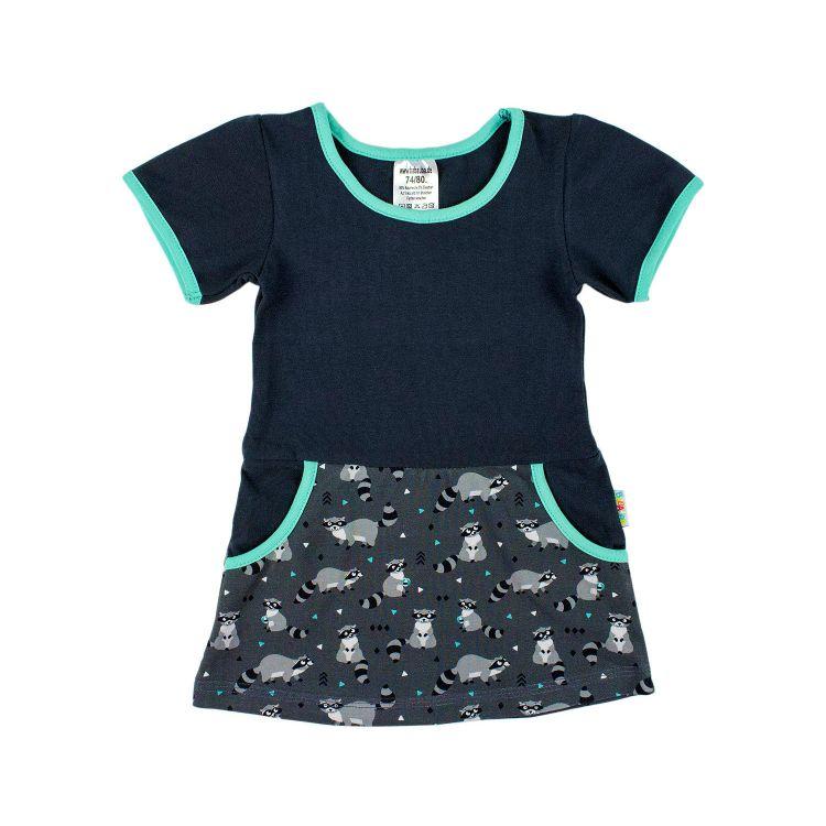 Baby-Kurzarm-PocketDress - PlayfulRacoons