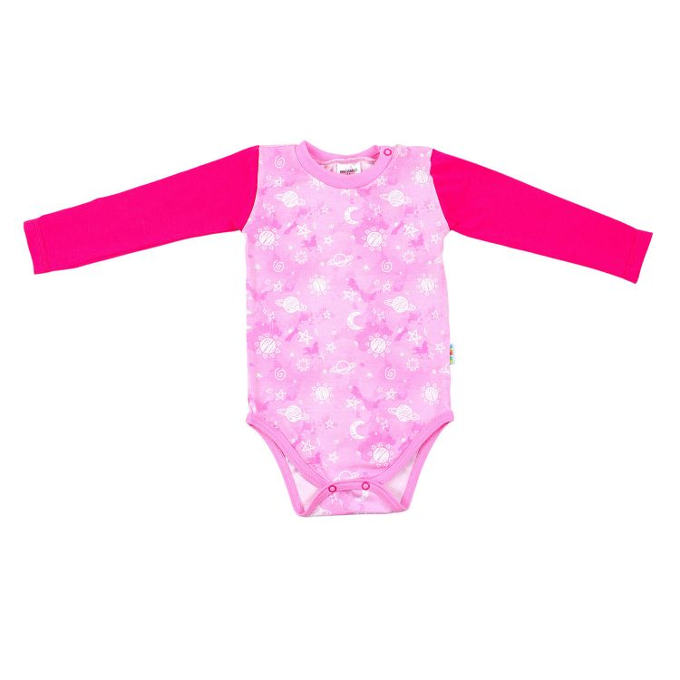 Baby-Langarmbody - DreamyGalaxy-Pink
