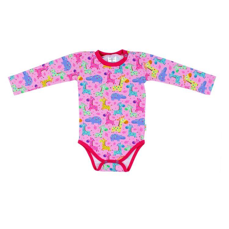 Baby-Langarmbody-Extreme - LittleSafari-Pink