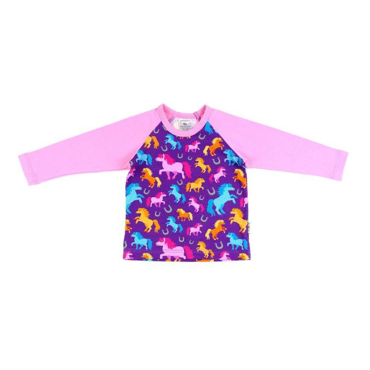 Langarm-Raglanshirt PreciousHorses-Purple